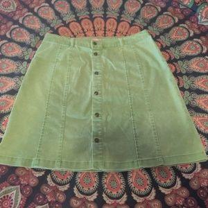 Woman Within Sage Knee Length Denim Skirt size 16